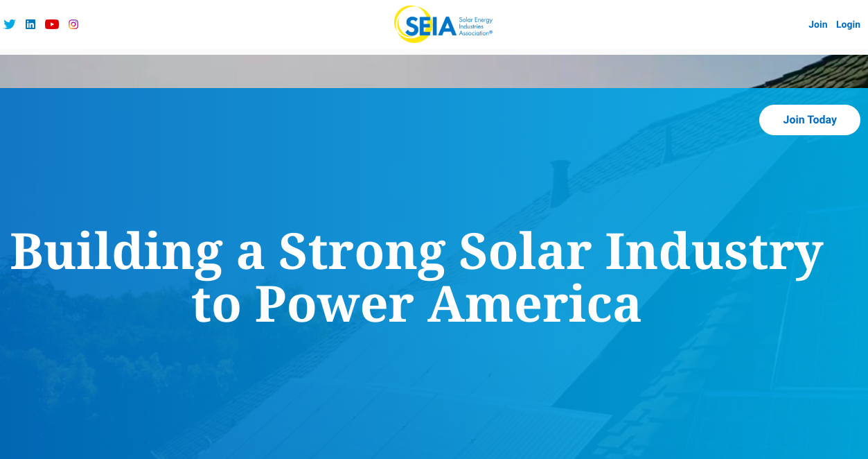 The Solar Energy Industries Association Homepage