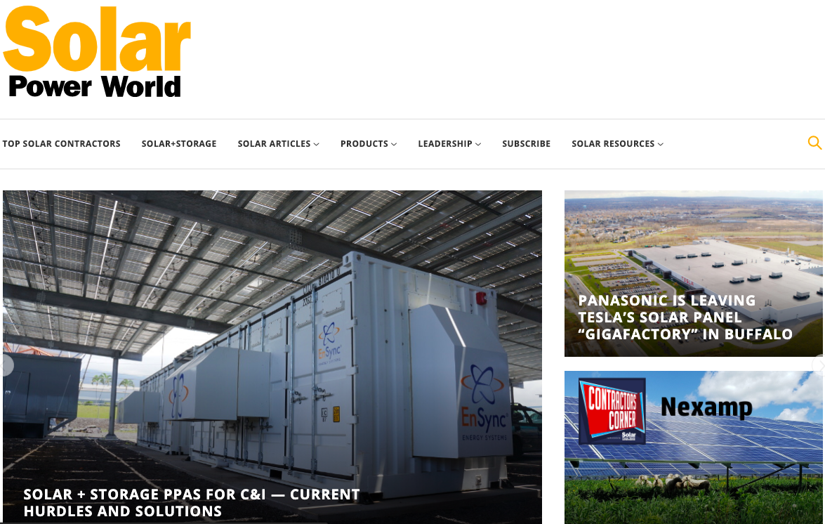 Solar Power World Homepage